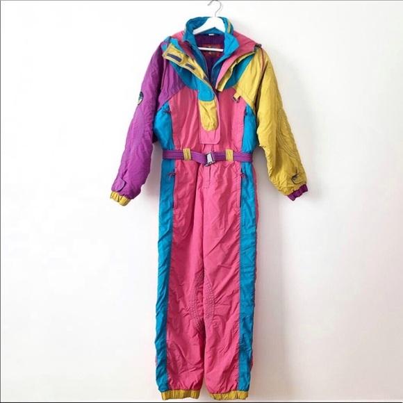 Womens Snow Suit One Piece >> Vintage 80 S Style Women S Snow Suit